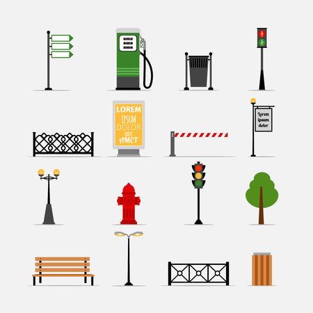 Vector Straße Element Symbole Standard-Bild - 41250928