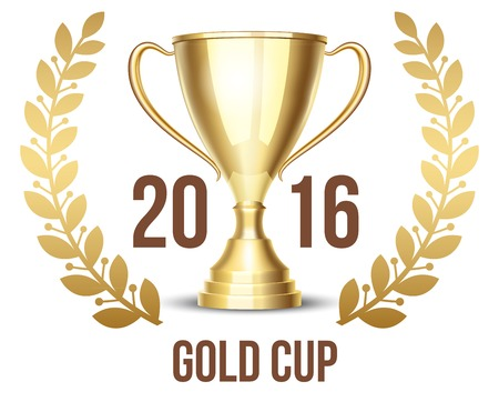 sports winner: Trophy cup with laurel wreath 2016