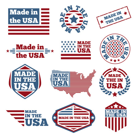 Made in USA étiquettes Banque d'images - 41251278