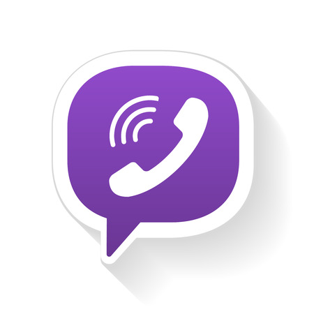 mobile voip: Vector IM instant messager phone handset icon with shadow