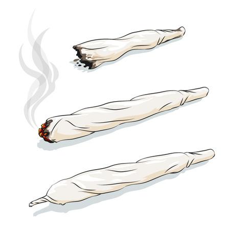 Vector Gelenk oder spliff. Drogenkonsum, Marihuana und Rauchen Drogen Standard-Bild - 42362279