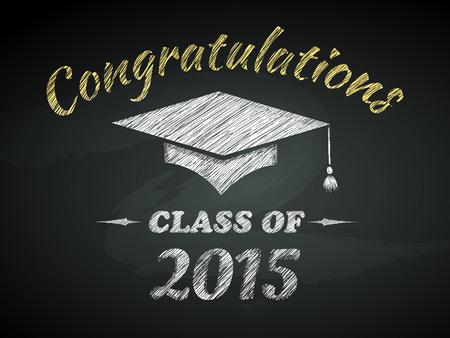 felicitaciones: Clase de la enhorabuena de la graduación del cartel ilustración vectorial