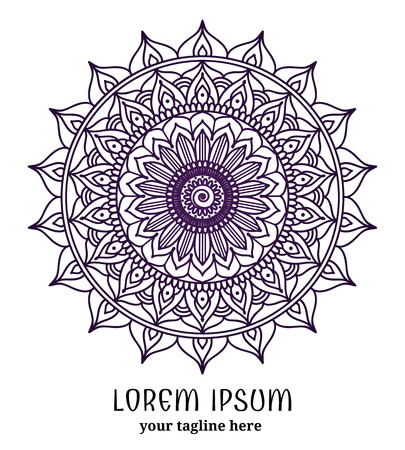 ornamental pattern: Ornamental round lace pattern. Ornate circle, flower mandala, vector illustration