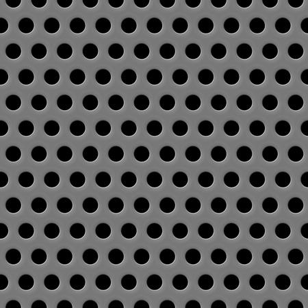 Vector speaker grill texture seamless gray background Illustration