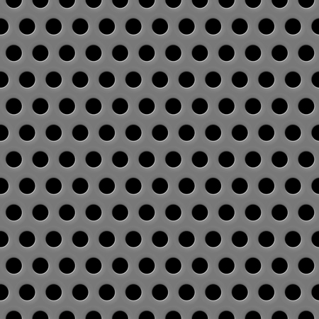 sub woofer: Vector speaker grill texture seamless gray background Illustration