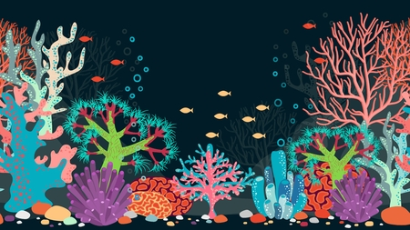deep: underwater scene. Ocean and coral, reef and water, fish and nature, animal and bubble