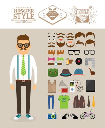 retro bicycle: Hombre inconformista con accesorios Hipster