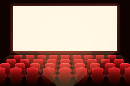 cinema screen: Cinema with white screen