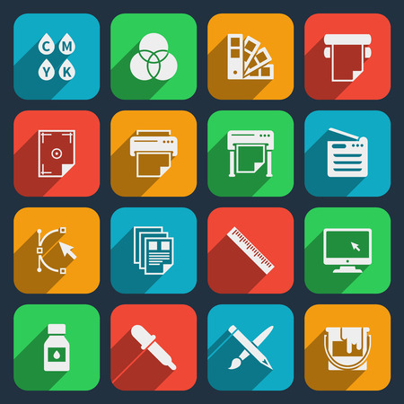 Publisher and printing house icons.