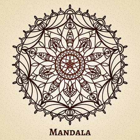 anahata: Yoga meditation mandala ornament.