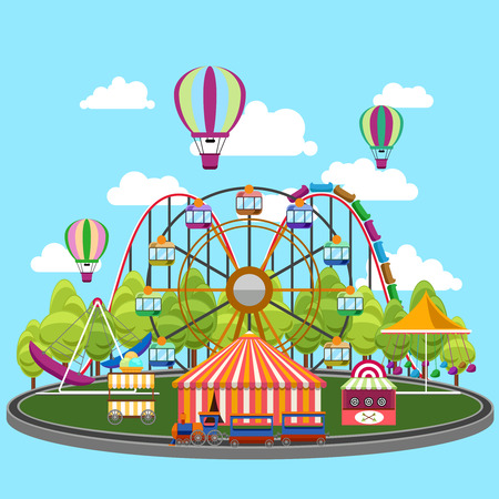 Carousel in flat design.