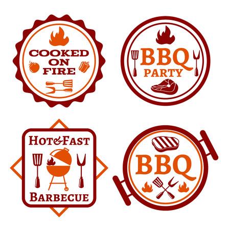 barbecue: Logo barbacoa y picnic ilustraci�n vectorial Vectores