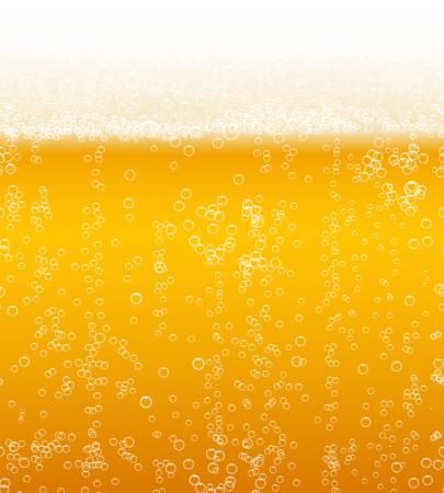 ビール泡背景の水平方向にシームレス パターンのベクトル  イラスト・ベクター素材