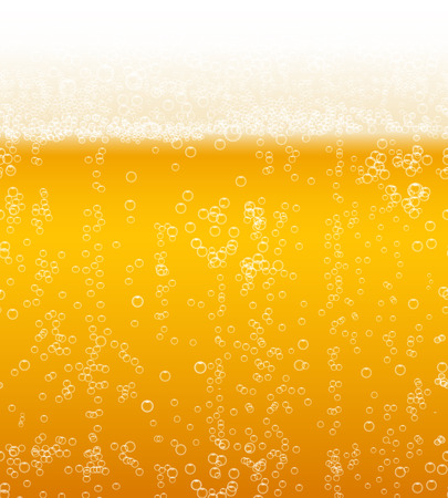 vesicles: Vector beer foam background horizontally seamless pattern