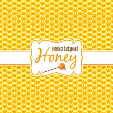 fabric samples: Honeycomb vector seamless pattern. Hexagon texture, design abstract geometric, honey yellow illustration