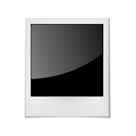 empty frame: Vintage photo frame. Photography empty, blank picture,  vector illustration