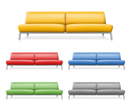 comfortable: Vector sofa. Furniture design interior for room, couch comfortable illustration
