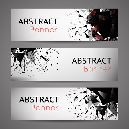 shatter: Abstract vector black explosion banners. Set of card, graphic space energy illustration Illustration
