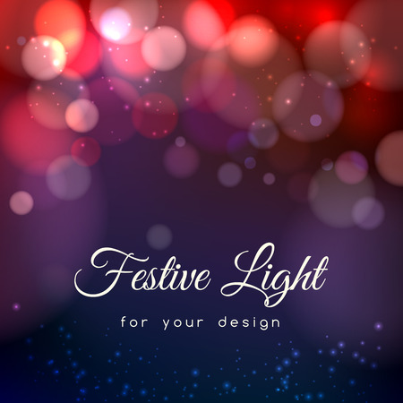 Abstract magic bokeh background. Effect blurred light, energy space, vector illustration Imagens - 45734744