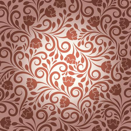 flower decoration: Seamless vector floral pattern. Flower design, decoration ornament, texture plant and ornamental nature illustration