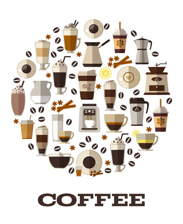 cappuccino: Coffee cup drink, cafe and cappuccino, espresso hot, vector illustration Illustration