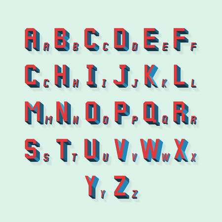 write a letter: Vector retro volumetric 3d alphabet. Typography alphabet abc, lettering with shadow illustration