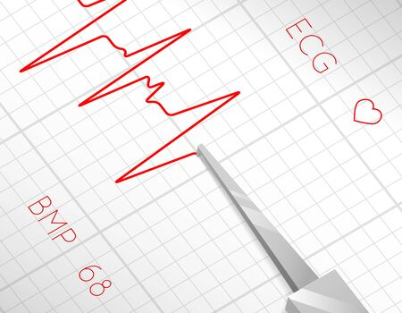 quake: Heart beats cardiogram process. Health pulse, graph heartbeat, medicine and life, vector illustration Illustration
