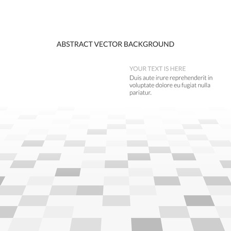옥내의: Abstract vector white background with empty space. Illustration of vision perspective. Geometric floor, interior design space indoor hall