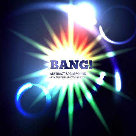 energy background: Explosion abstract vector background. Bang design light, illustration energy art power bright