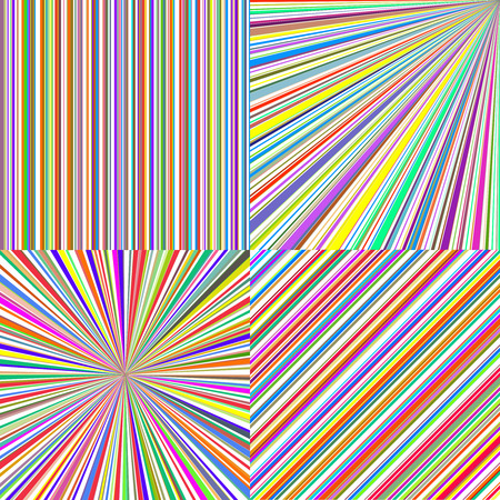 rainbow stripe: Rainbow color stripes. Line art vector abstract backgrounds set. Design illustration color stripe graphic colorful pattern