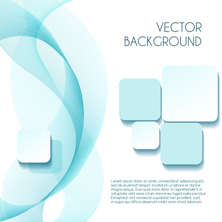 Smoky wave abstract background brochure design. Motion design backdrop, vector illustration