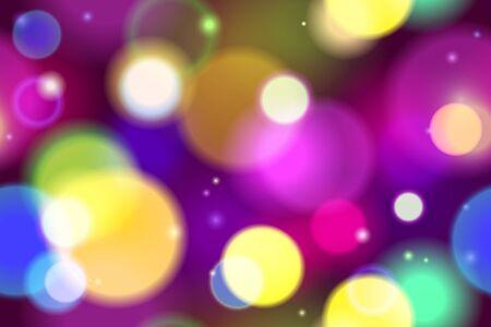 light trails: Blurred Bokeh Defocused Lights Background Vector Seamless Pattern