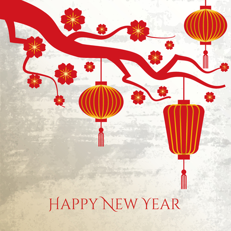 asian culture: Chinese New Year background. Celebration traditional, prosperity asian culture,  illustration