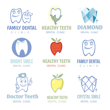 stomatology icon: Dental and stomatology  set. Healthy medicine, health care illustration Illustration