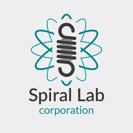 elastic: Spiral spring . Metal steel, hook and spiral, pressure wire, metallic equipment illustration