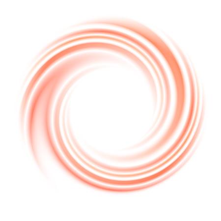円旋回背景を抽象化します。丸い曲線、動きの光、空間と明るいらせん波の図
