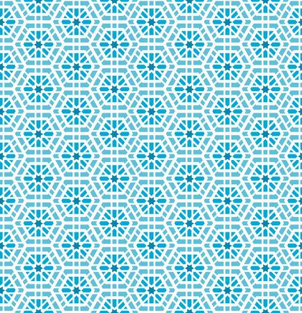 Oriental mosaic seamless pattern. Artwork background, tile ornament, design decoration, illustration Illustration