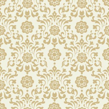 ornate background: Ornate vintage seamless damask background. Pattern design, decorative retro decor, illustration Illustration