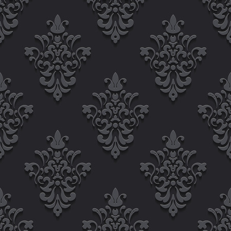 repetition: Elegant luxury texture black with shadows. Pattern seamless background, endless and repetition, illustration