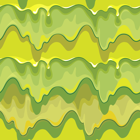Oozing green slime vector seamless pattern. Texture design, slime and sticky, scary fantasy, liquid dirty illustration