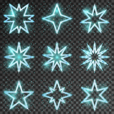 scintillation: Glitter stars. Bright and shiny decoration christmas,  twinkling and scintillation, vector illustration Illustration