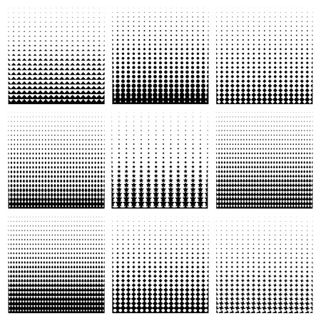dot pattern: Seamless monochrome pattern set. Repeat line vertical element, striped endless, vector illustration