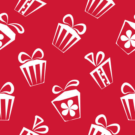 graphic backgrounds: Gift box red pattern for banner, graphic or website backgrounds. Holiday celebration, decoration event, vector illustration