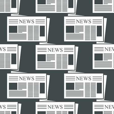 Newspaper background. Pattern with newspapers icons for news and blogs Çizim