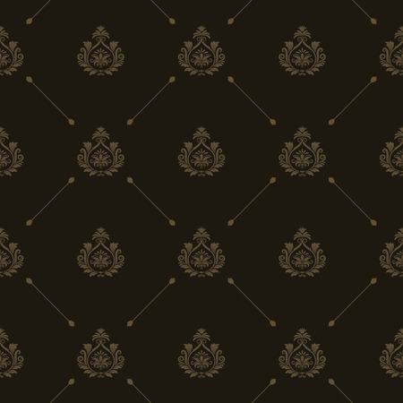 ornamented: Vector luxury king background with golden floral elements
