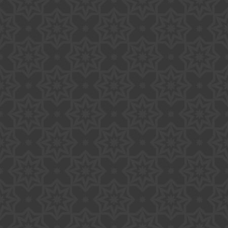 delicate arabic motif: Arabic black and gray vector seamless pattern