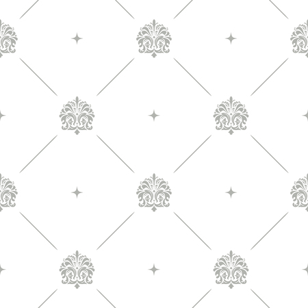 royal background: Floral pattern baroque damask seamless vector background