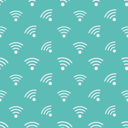 wifi sign: WIFI icons pattern. Background for free wi-fi areas and wifi applications Illustration