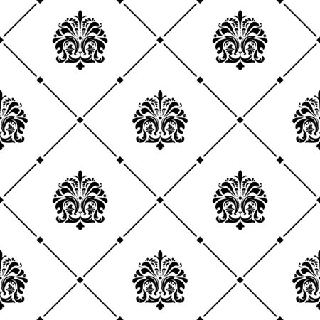 old fashioned: Classical luxury old fashioned ornament seamless texture Illustration