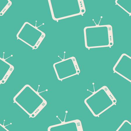 tvset: TV icons pattern. Background for apps with TV program and TV broadcasts